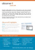 ObserveIT Remote Access Session Recorder - Product Brochure