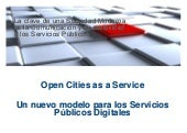 Open Cities as a Service