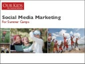 Social Media Marketing Campaign (for summer camps)