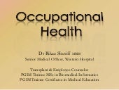 Occupational Health @ IPM on 26.3.11