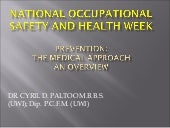 Occupational health program structu...