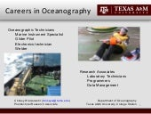 Careers in Oceanography
