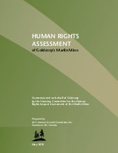Human Rights Assessment of Goldcorp...