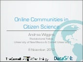 Online Communities in Citizen Science
