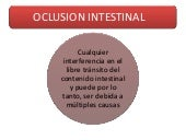 Oclusión intestinal 2012