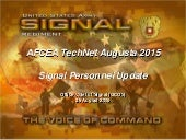 Office Chief of Signal Personnel Presentation: TechNet Augusta 2015