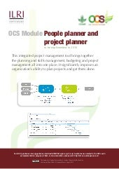 OCS Module—People planner and project planner