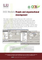 OCS Module—People and organizational development