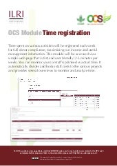 OCS Module—Time registration