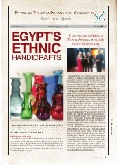 Newsletter of Egypt Tourism - Octo...