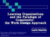 Learning Organizations and the Para...