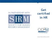 Become a certified HR professional ...