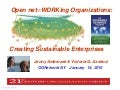 Open net∞WORKing Organizations: Creating Sustainable Enterprises