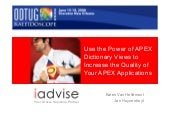 Use the Power of APEX Dictionary Vi...
