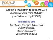Enabling legislation to support Ope...