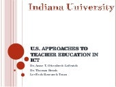 U.S. Approaches to Teacher Educatio...