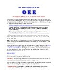 OEE: Overall Equipment Effectiveness
