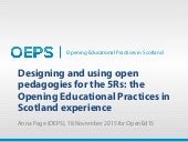 OEPS presentation at OpenEd15 - Designing and using open pedagogies for the 5Rs: the Opening Educational Practices in Scotland experience