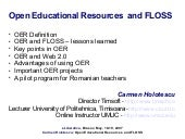 Open Educational Resources and FLOSS