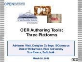 CCCOER Webinar: OER Authoring Tools