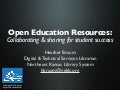 Open Education Resources: Collaborating & sharing for student success