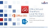 Office 365 Local File Share Synchronization - Issues Solved.