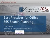 Office 365 SharePoint Search Planning