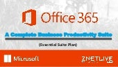 What's So Special in ZNetLive's Office 365 Essential Suite Plan?