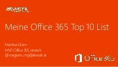 My personal Office365 Top10 from Ju...