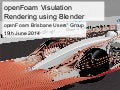 openFoam Visualisation Rendering Using Blender