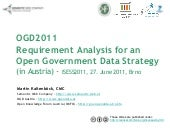 OGD2011 - Requirements Analysis for...