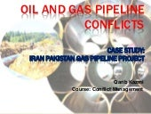 Oil and gas pipeline conflicts