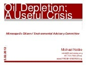 Oil Depletion: A Useful Crisis