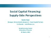 Social Finance: supply-side perspec...