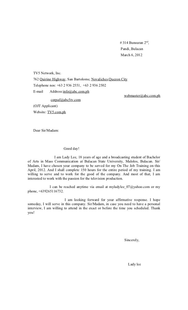 Example of application letter in tagalog order custom essay online example application letter tagalog version cover letter templates mitanshu Images