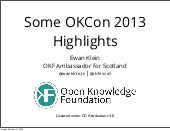 Some highlights from OKCon 2013, Ge...