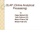 OLAP & DATA WAREHOUSE