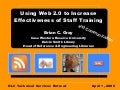 Using Web 2.0 to Increase Effectiveness of Staff Training