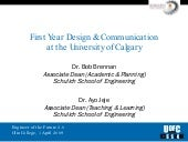 1st Year Design at the U of C