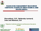Olorunfemi: Flood Risk Management i...
