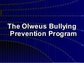 Olweus bully prevention master