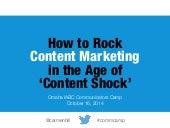 Content Marketing in Age of Content Shock