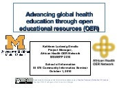 Advancing Global Health Education t...
