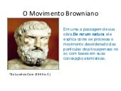 O movimento browniano
