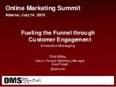 Fueling the Funnel through Customer...