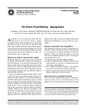 GMP: On farm food safety aquaponics...
