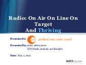 On Air. On Line. On Target. 2012