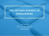 The Art and Science of Onboarding