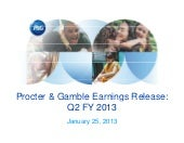Second Quarter 2013 Earnings
