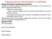 Ongoing customer communication in e marketing